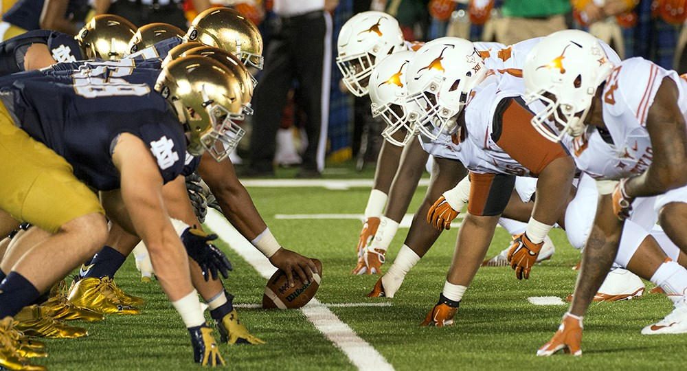 what is the score of the notre dame game undefeated teams in college football